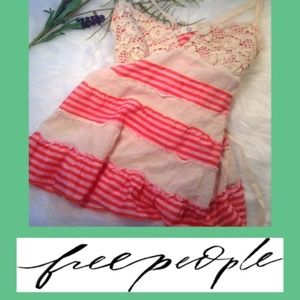 Free People Pink and Lace Baby Doll Size 4